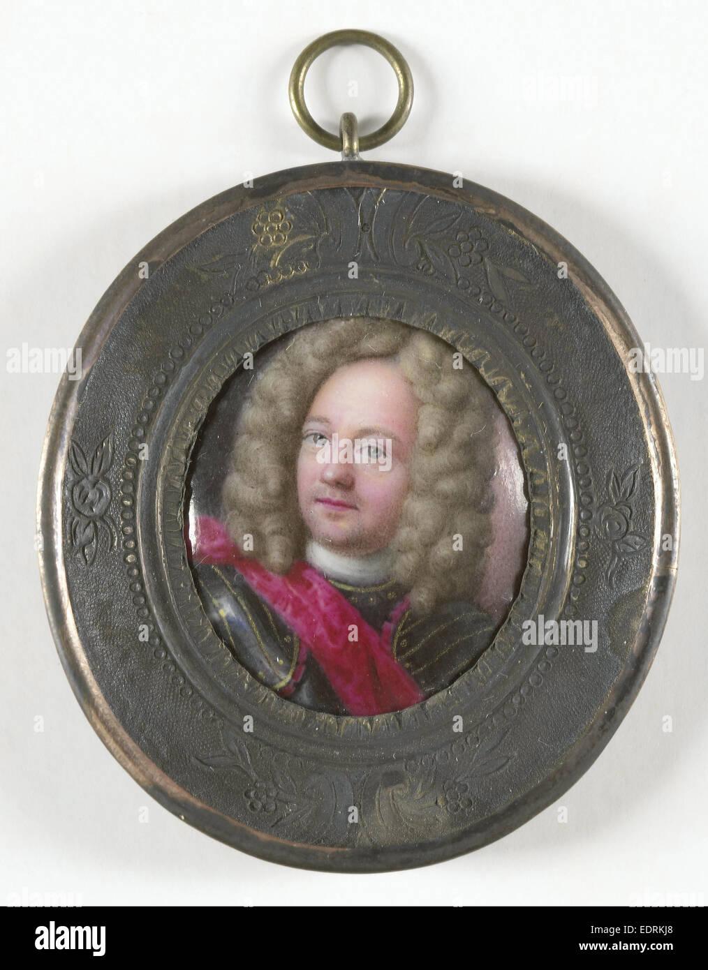 John Churchill, 1650-1722, Duke of Marlborough, attributed to Johann Friedrich Ardin, 1700 - 1725, Portrait miniature - Stock Image