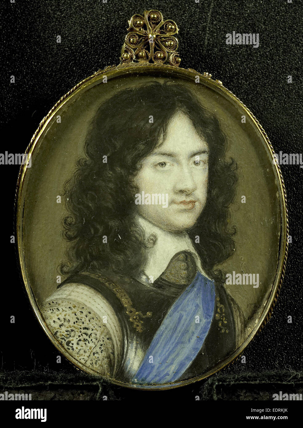 Karel Stuart, 1630-85, Prince of Wales. The later King Charles II of England, Nathaniel Thach, 1650 - 1659, Portrait - Stock Image