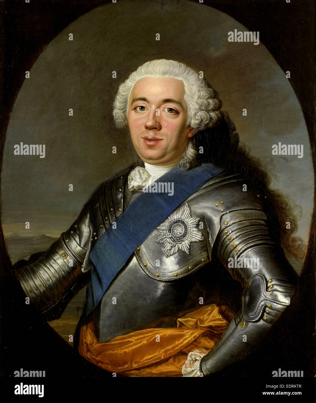 Portrait of William IV, Prince of Orange, Jacques André Joseph Camelot Aved, 1750 - 1751 Stock Photo
