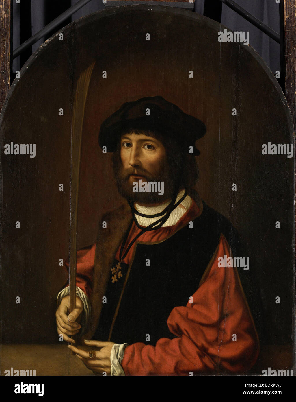 Portrait of Ruben Parduyn, knight of the Holy Sepulchre, copy after Jan Gossaert, after c. 1644 - Stock Image