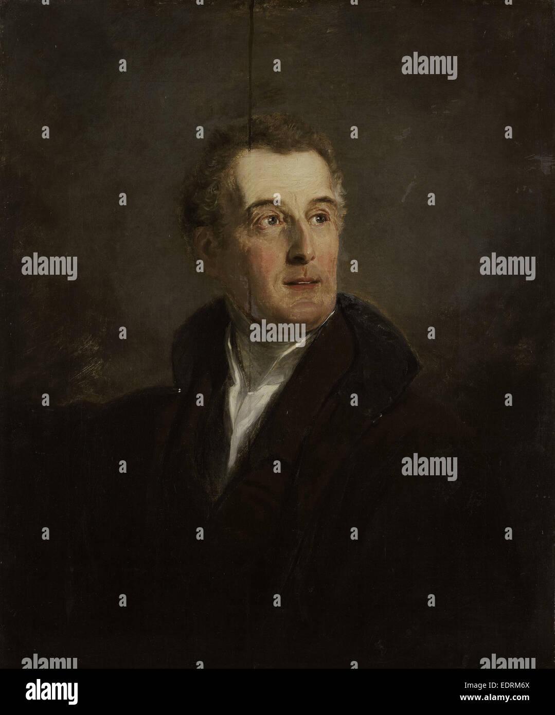 Portrait of Arthur Wellesley, Duke of Wellington, Jan Willem Pieneman, 1821 - Stock Image