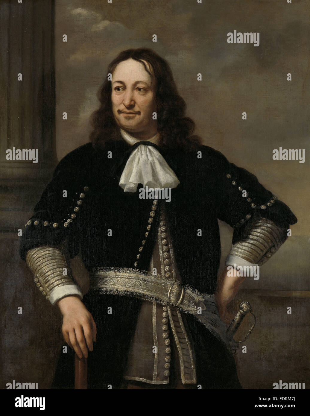 Portrait of a Sea Captain, probably Vice-Admiral Aert van Nes, formerly entitled Portrait of Johan Cornelis van - Stock Image