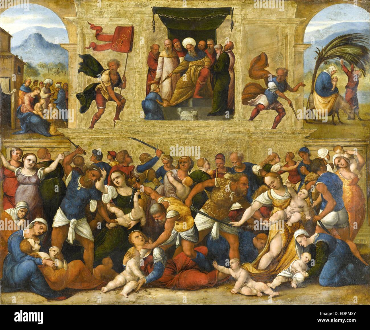 Massacre of the Innocents, Lodovico Mazzolino, 1510 - 1530 Stock Photo