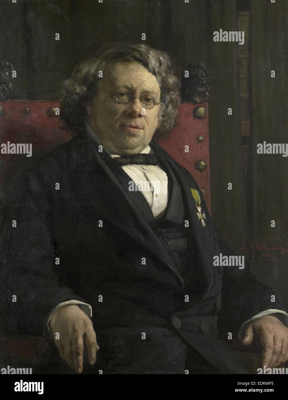 Pieter Harme Witkamp, 1816-92, Historian and geographer, Hendrik Valkenburg, 1883 - Stock Image