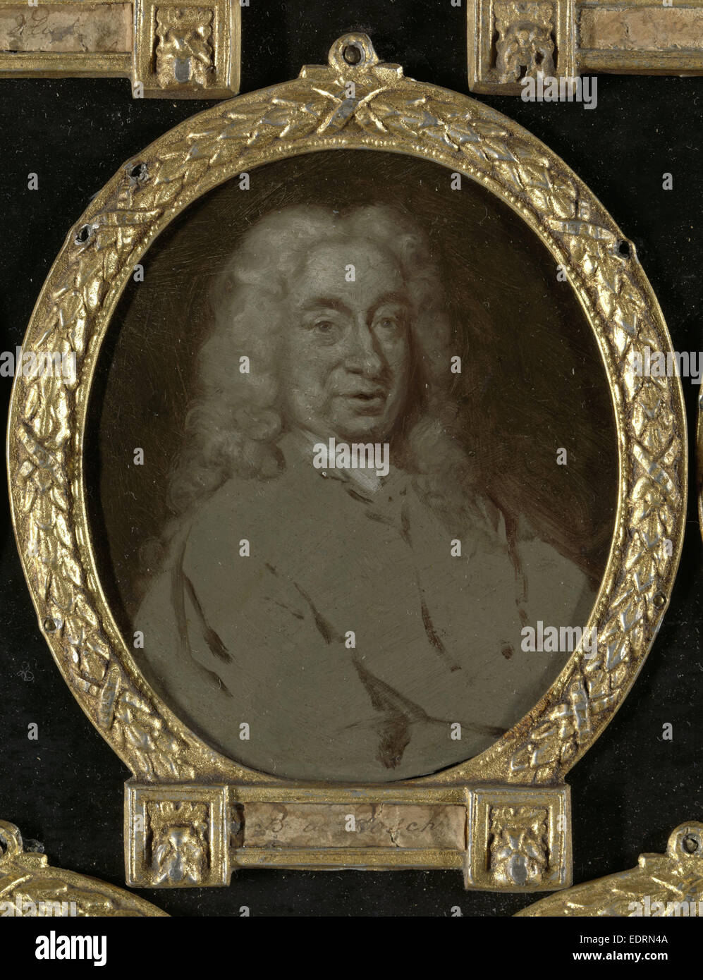 Portrait of Hendrik van der Zande, Jurist and Dramatic Poet in Amsterdam, Jan Maurits Quinkhard, 1732 - 1771 - Stock Image