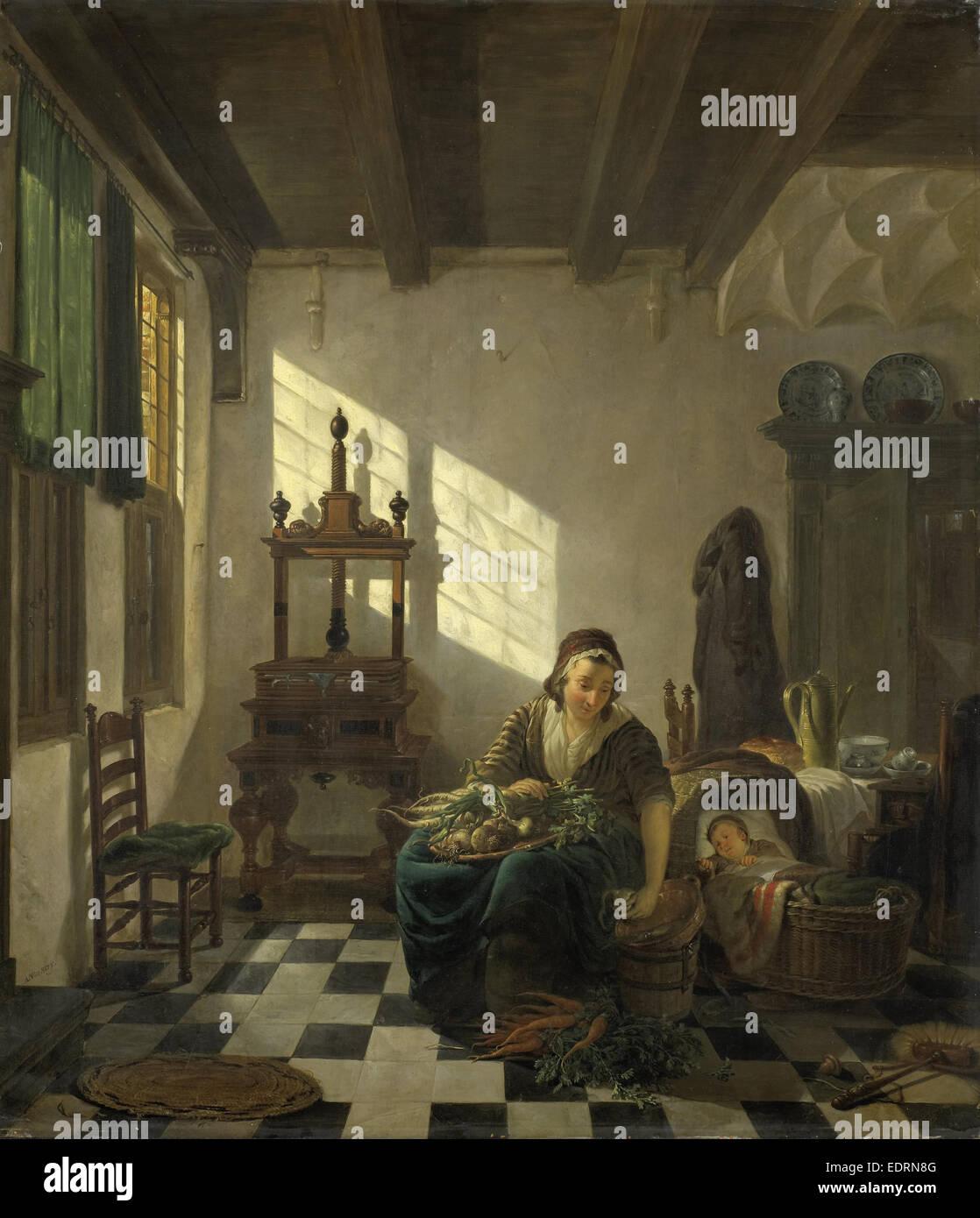 The Housewife, Abraham van Strij, I, 1800 - 1811 - Stock Image