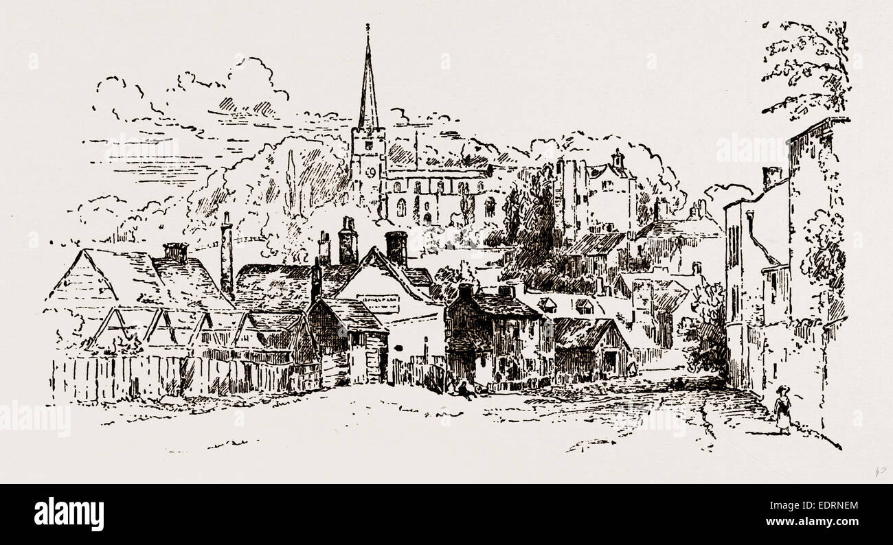 Harrow from a pencil sketch taken in 1817 uk
