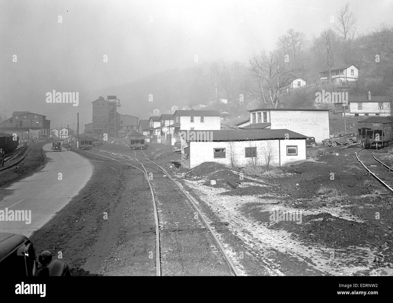 Scott's Run, West Virginia. Pursglove Mines Nos. 3 and 4 - This is the largest company of Scott's Run - Stock Image