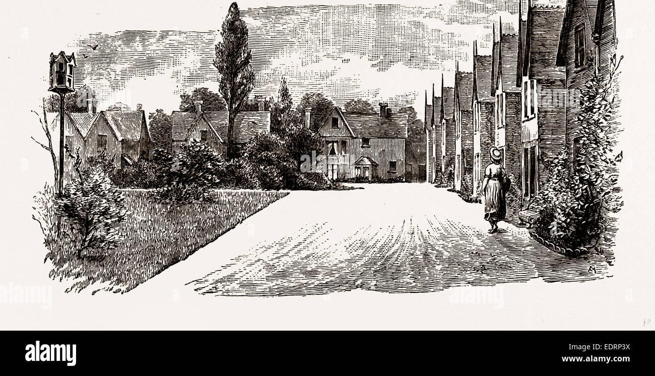 DR. BARNARDO'S HOMES, UK, engraving 1881 - 1884 - Stock Image