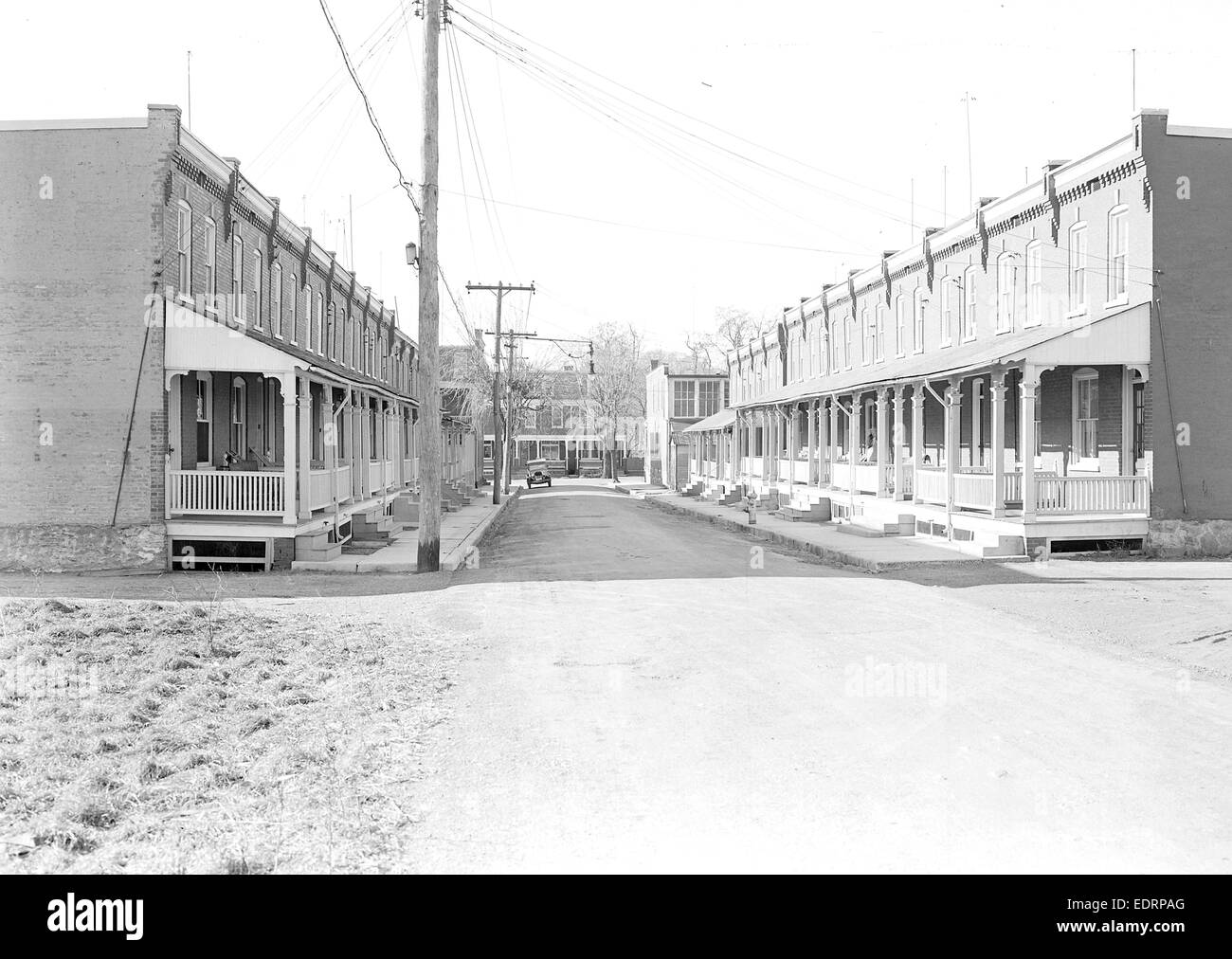 Lancaster, Pennsylvania - Housing. Moderatly priced homes in Lancaster City housing silk, linoleum and closure workers Stock Photo