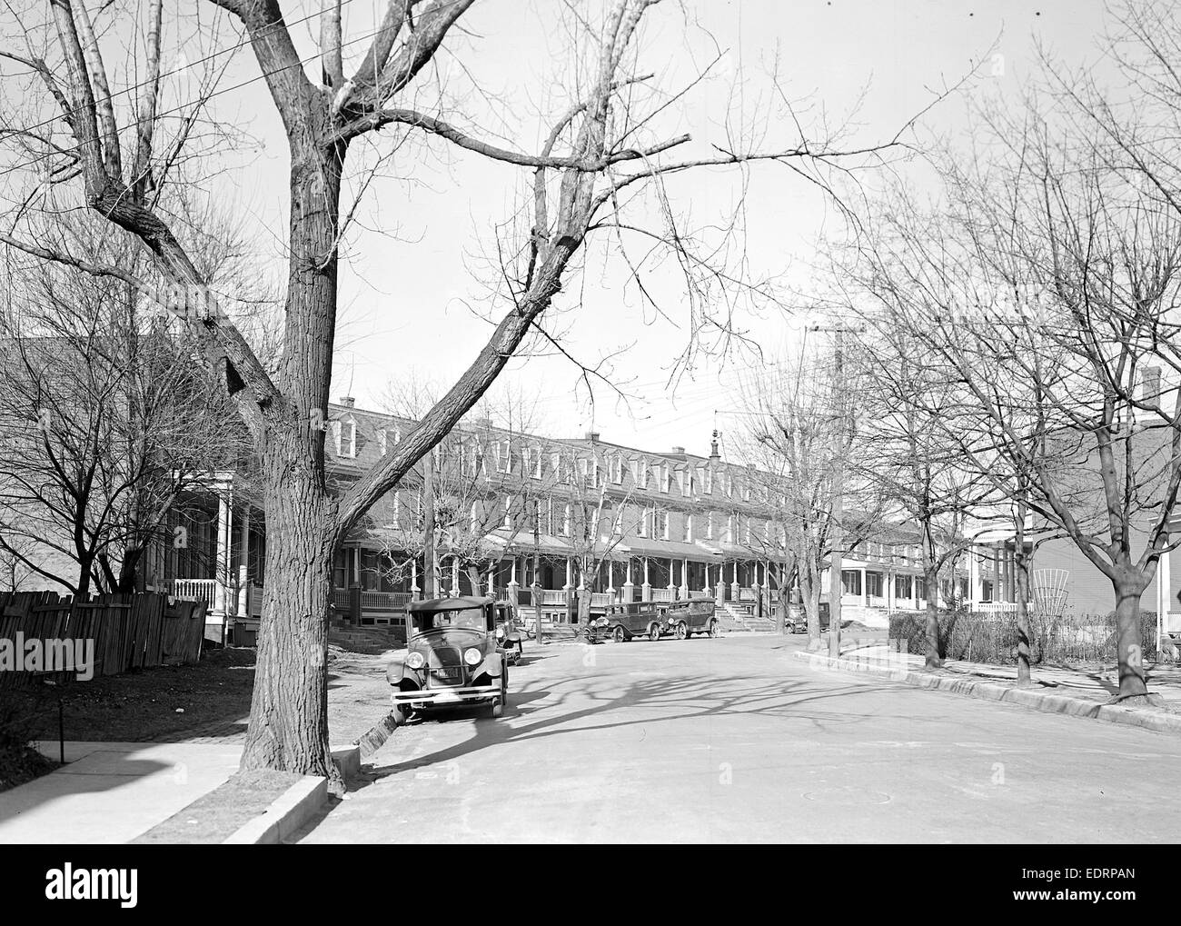 Lancaster, Pennsylvania - Housing. Silk, linoluem and closure workers' homes, rental $20.00 to $22.00 per month, Stock Photo