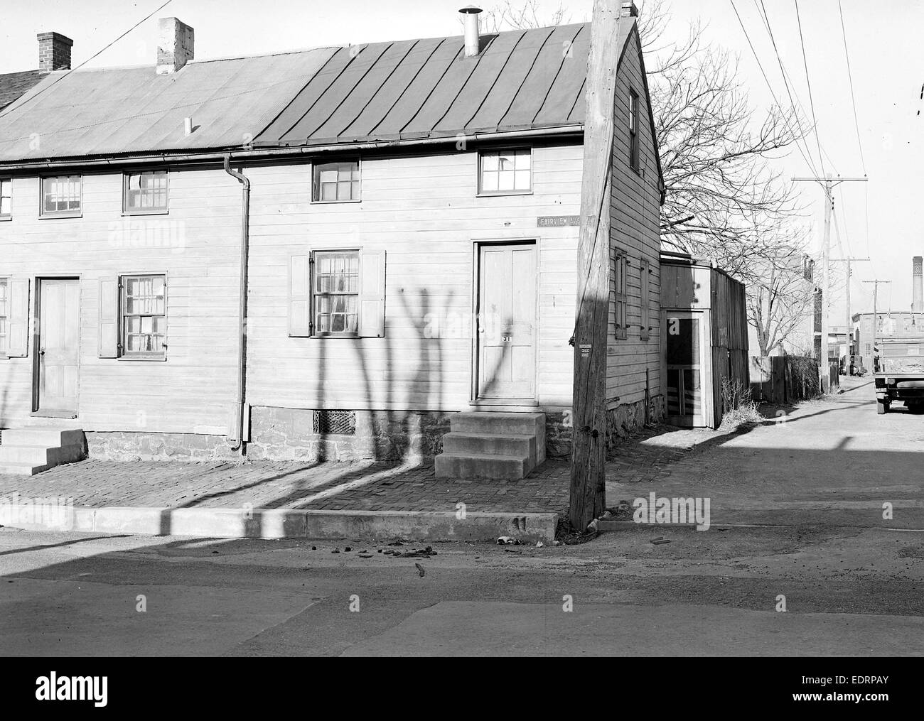 Lancaster, Pennsylvania - Housing. Low-priced houses on Cabbage Hill - rental about $12.00 per month (umbrella factory) Stock Photo