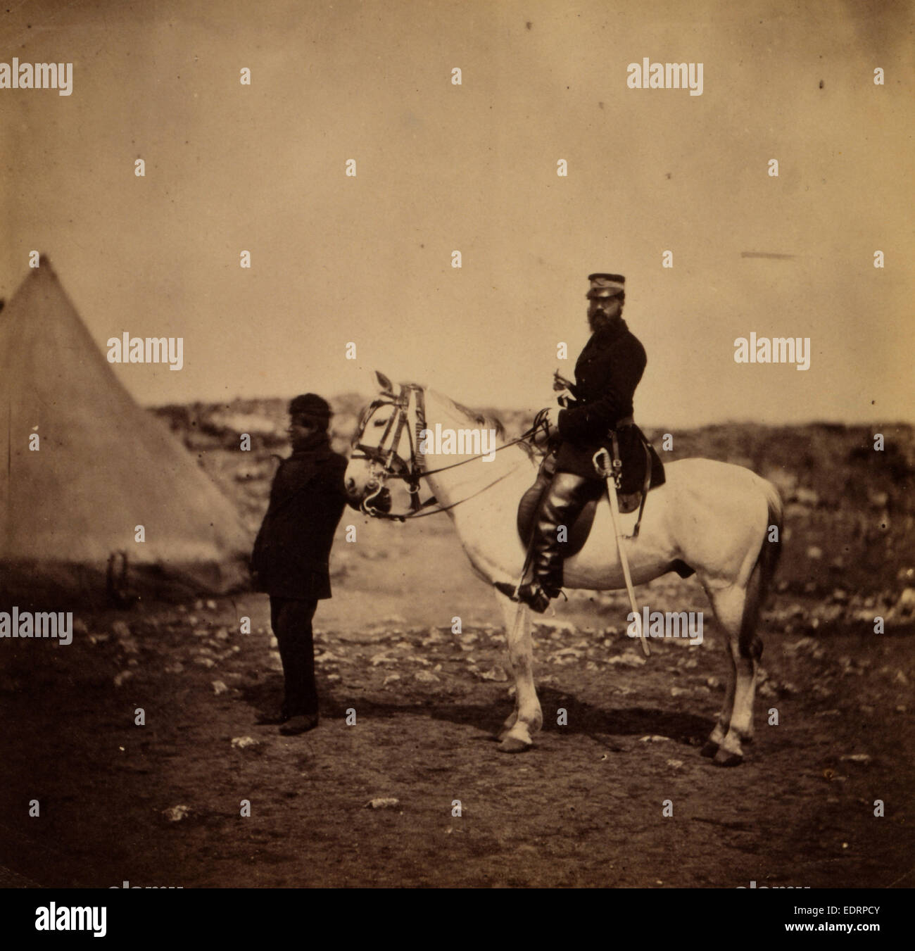 Mr. Thompson, Commissariat, Crimean War, 1853-1856, Roger Fenton - Stock Image
