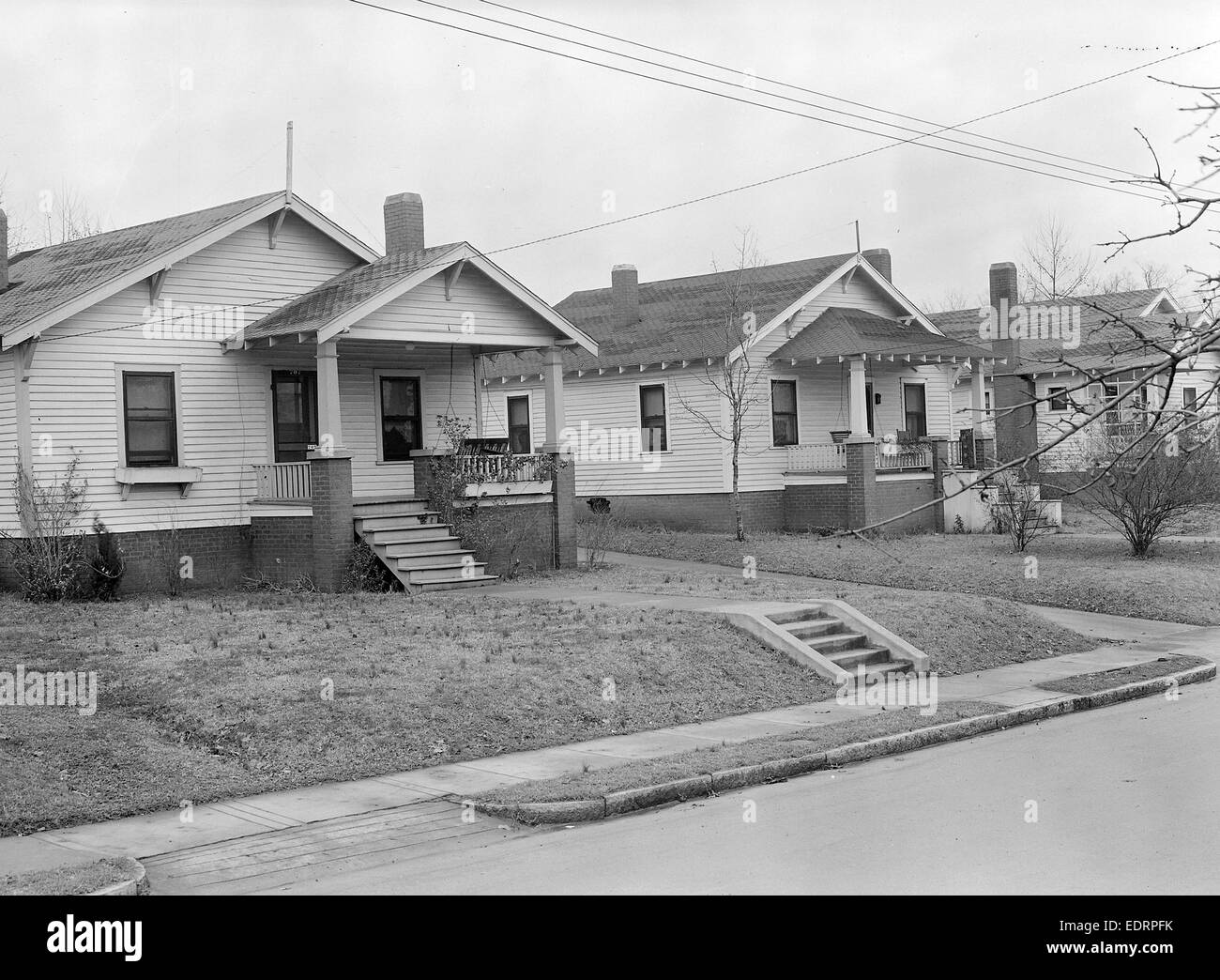 High Point, North Carolina - Housing. Homes of highly skilled furniture workers - High Point, North Carolina, 1936, - Stock Image