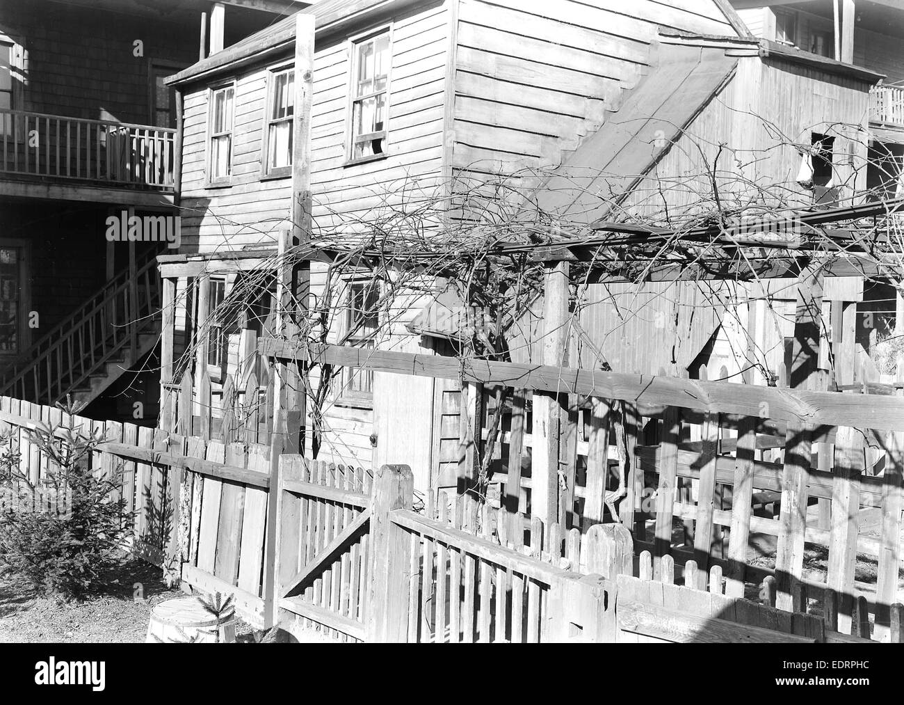 Paterson, New Jersey - Textiles. Rear tenement off Summer St. Former silk workers, March 1937, Lewis Hine, 1874 - Stock Image