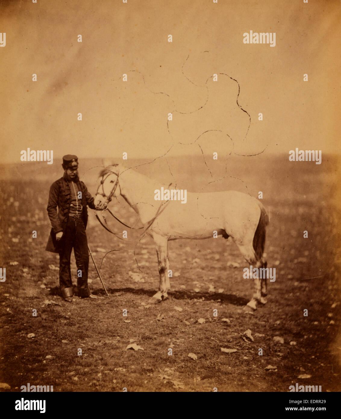 Captain Staunton [i.e., Stanton], Royal Engineers, Crimean War, 1853-1856, Roger Fenton - Stock Image