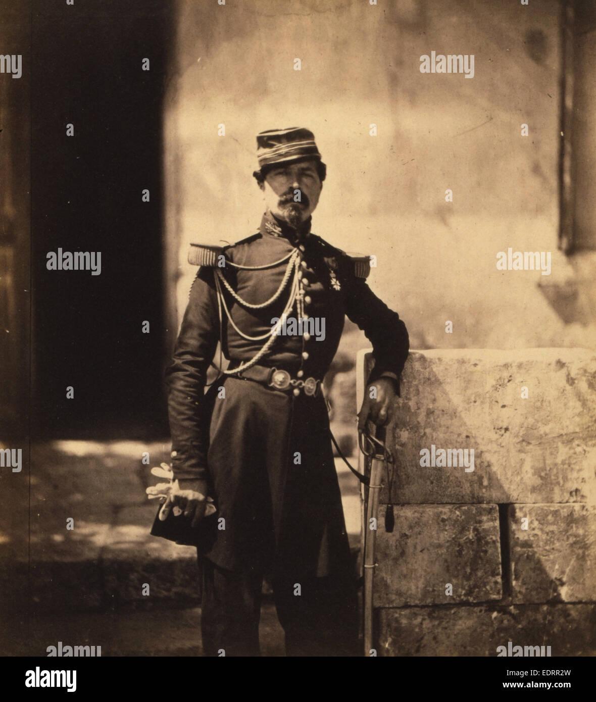 Colonel Vico, attached to the British Head Quarters, Crimean War, 1853-1856, Roger Fenton historic war campaign - Stock Image