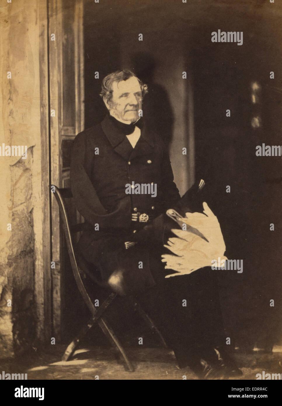 Field Marshall Lord Raglan, Crimean War, 1853-1856, Roger Fenton historic war campaign photo - Stock Image
