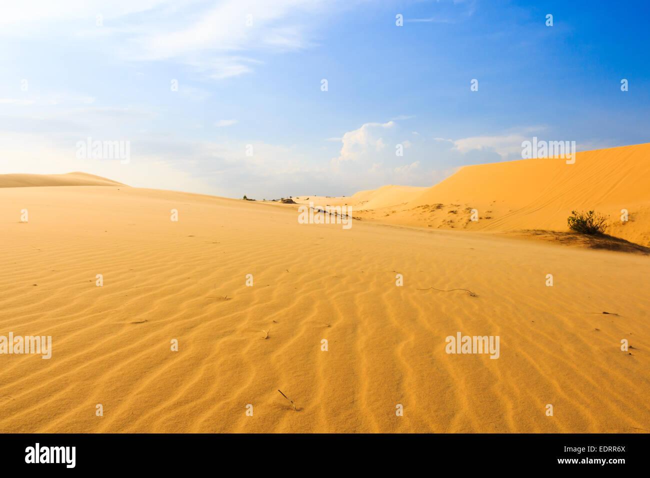 Wave on desert and blue sky at Mui Ne, South Vietnam - Stock Image