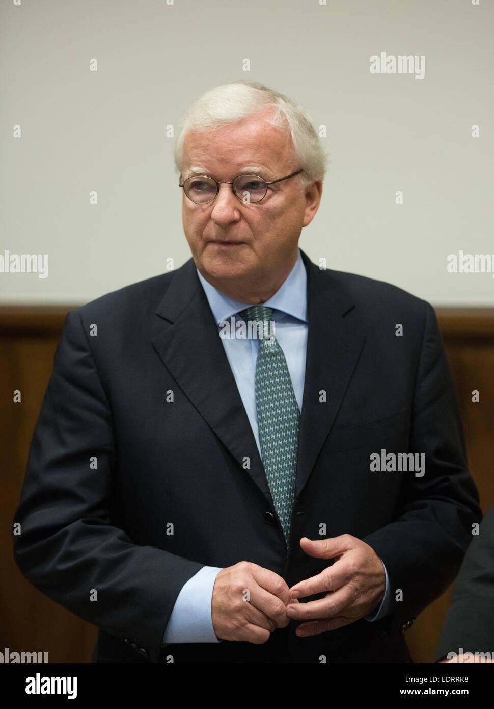 Dortmund, Germany. 09th Jan, 2015. Former president of the German Bundesliga soccer team Borussia Dortmund, Gerd - Stock Image