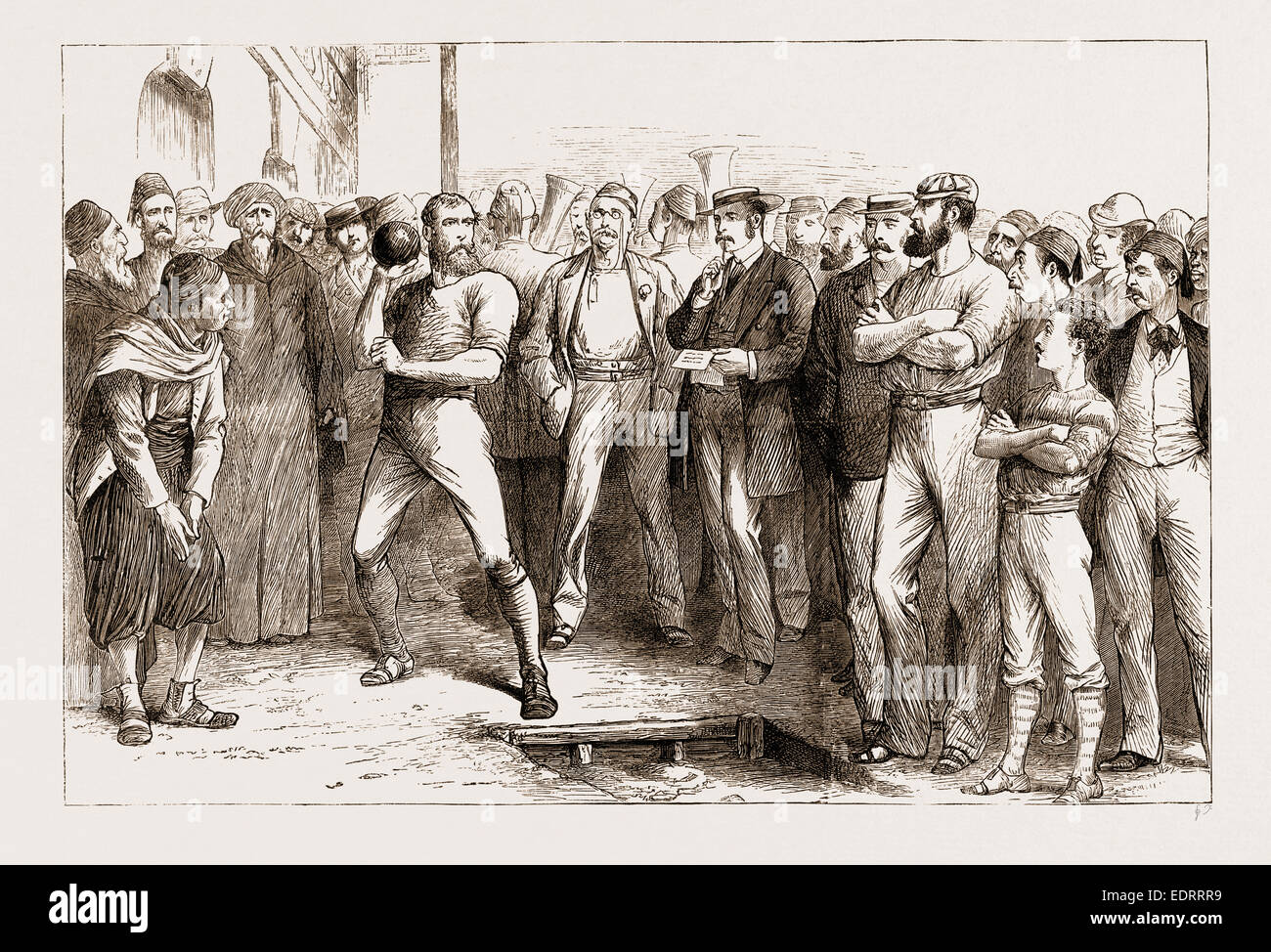 BRITISH ATHLETIC SPORTS AT ALEXANDRIA, EGYPT, 1876 Stock Photo