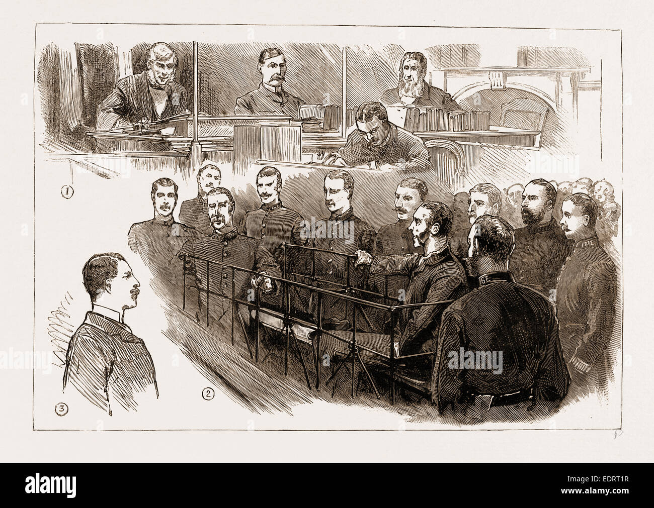 THE ASSASSINATION OF JAMES CAREY, ARRIVAL OF O'DONNELL IN LONDON: THE EXAMINATION OF THE PRISONER AT BOW STREET - Stock Image