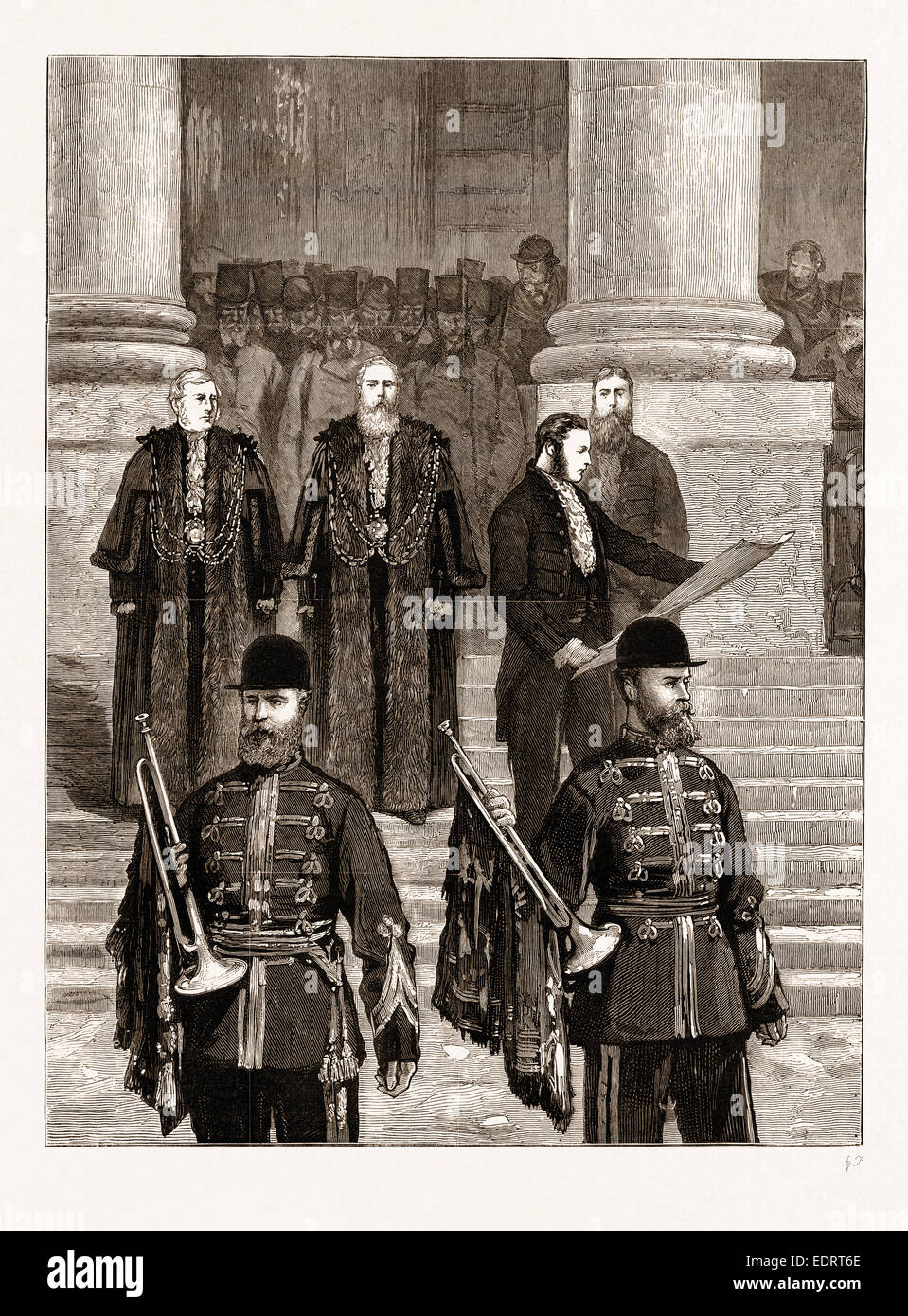 EMPRESS OF INDIA: PROCLAMATION OF THE QUEEN'S NEW TITLE AT THE ROYAL EXCHANGE, 1876 - Stock Image