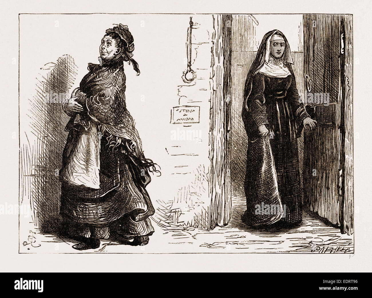 MRS. GINX WENT HOME RATHER JUBILANT, SHE WAS A MARTYR, 1876 - Stock Image