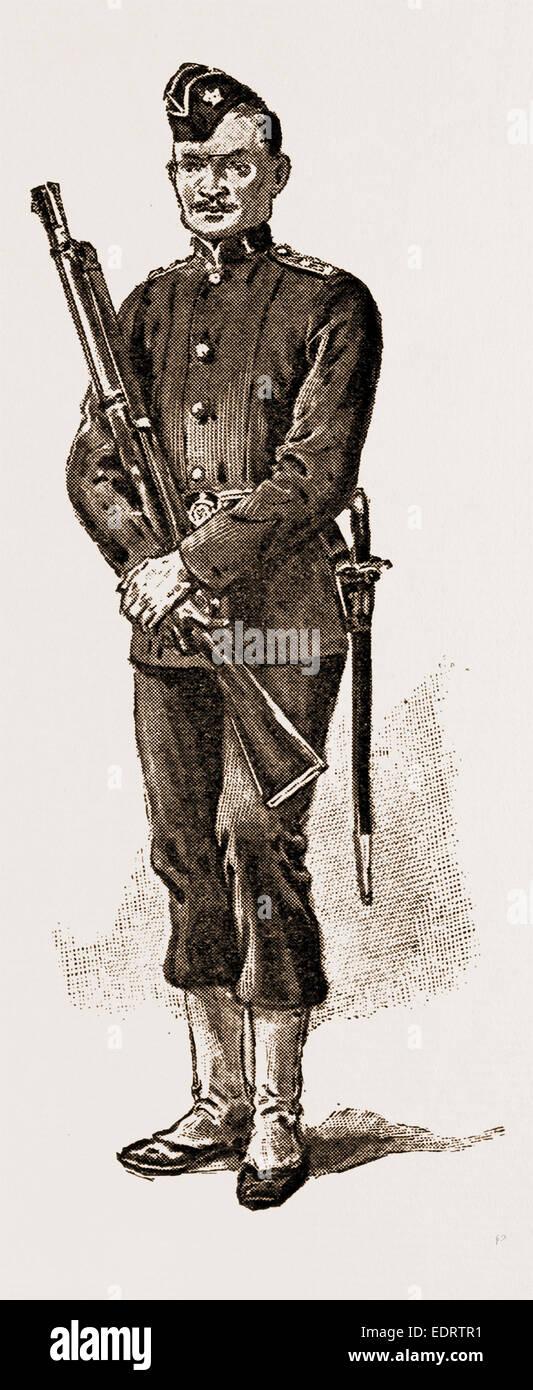 MALAY ARMED POLICE - Stock Image