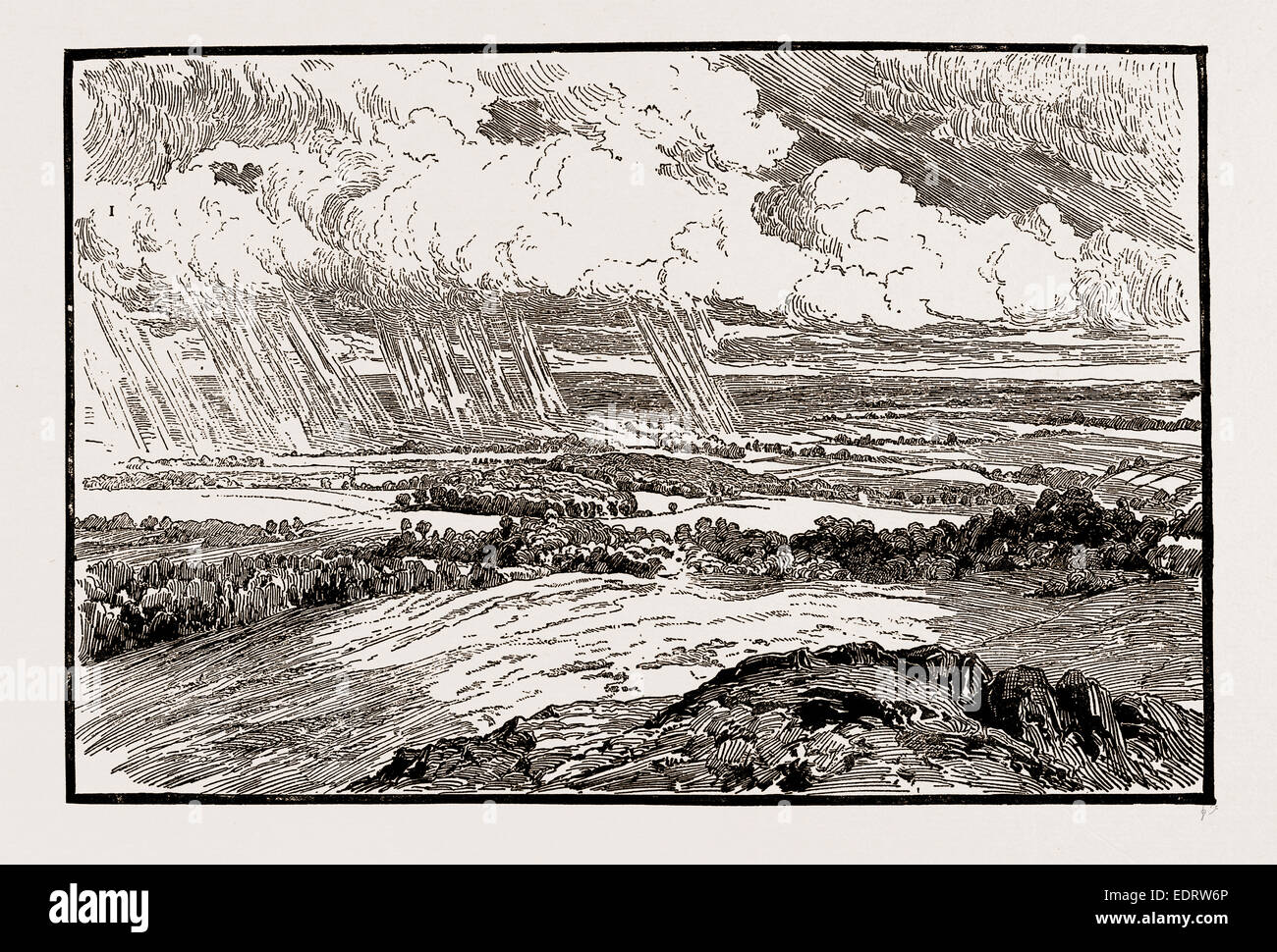 ILLUSTRATIONS FROM THE CATALOGUE OF THE ROYAL INSTITUTE OF PAINTERS IN WATER COLOURS: CLOUDS AND SHADOWS, BY C.E. - Stock Image