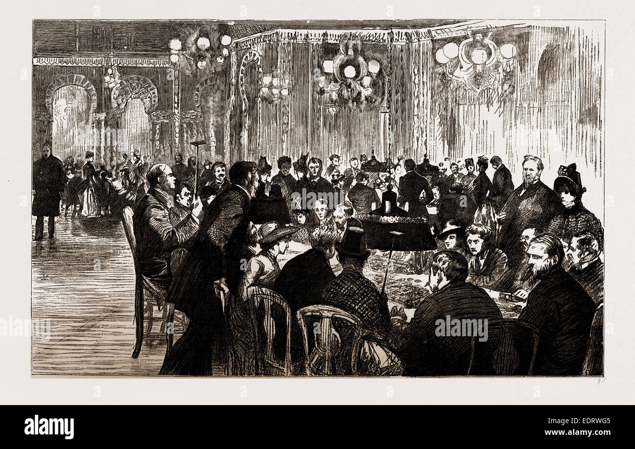 THE INTERIOR OF THE GAMBLING SALOON, 1886 - Stock Image