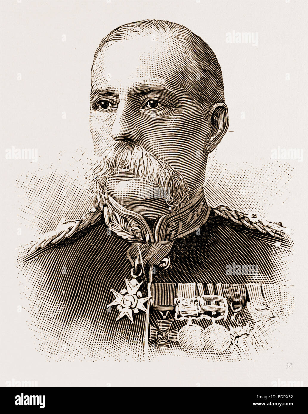 THE LATE GEN. SIR W. LENNOX, V.C. Photo by Ball, Regent Street - Stock Image
