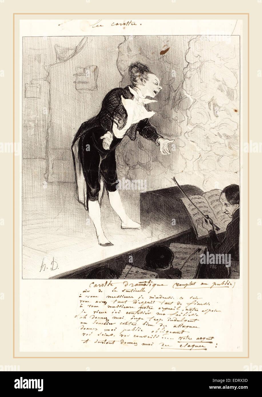 Honoré Daumier (French, 1808-1879), Carotte dramatique, 1844, lithograph - Stock Image