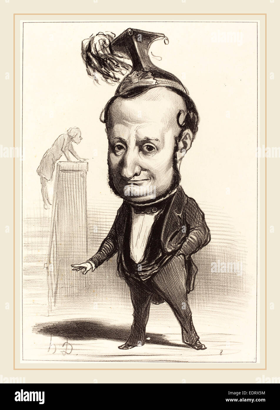 Honoré Daumier (French, 1808-1879), L.F. Raymond Wolowski, 1849, lithograph - Stock Image