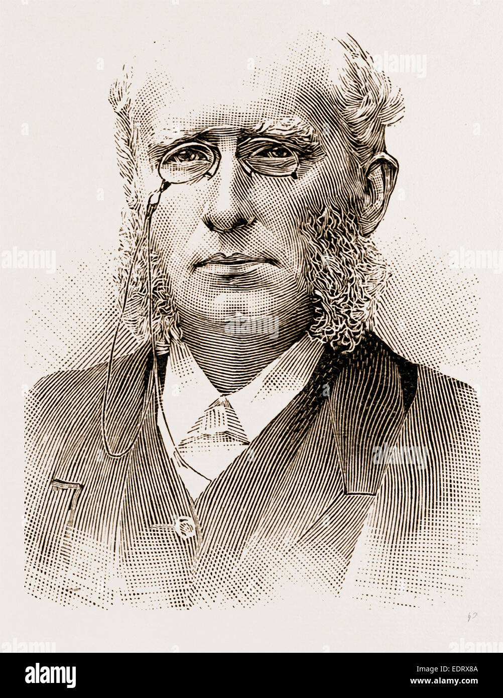 and in 1881 the THE REV. HENRY WACE, D.D., Stock Photo