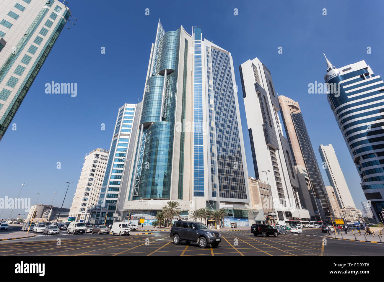 Crossroads downtown in Kuwait City. December 8, 2014 in Kuwait, Middle East - Stock Image