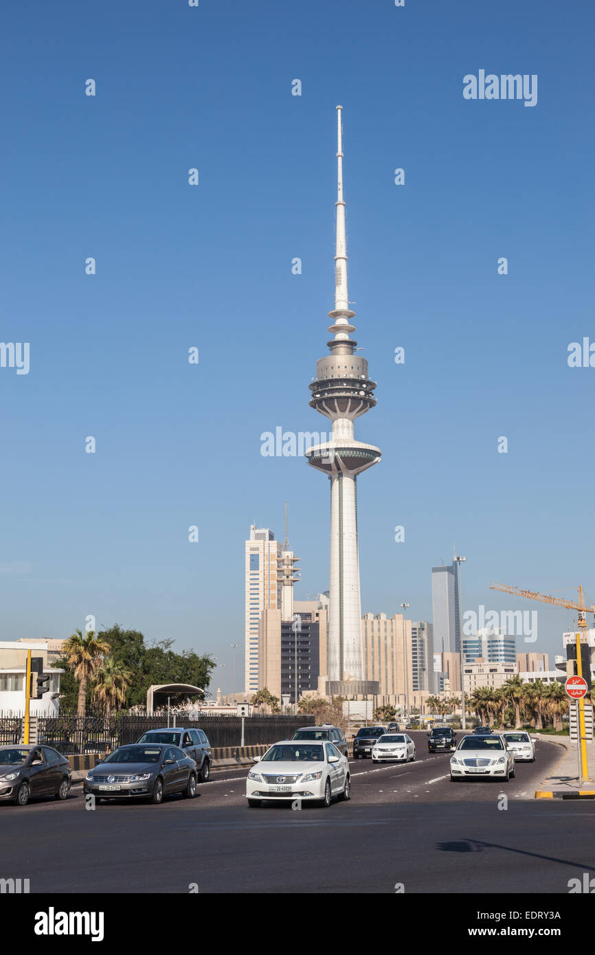 Liberation Tower in Kuwait City - Stock Image