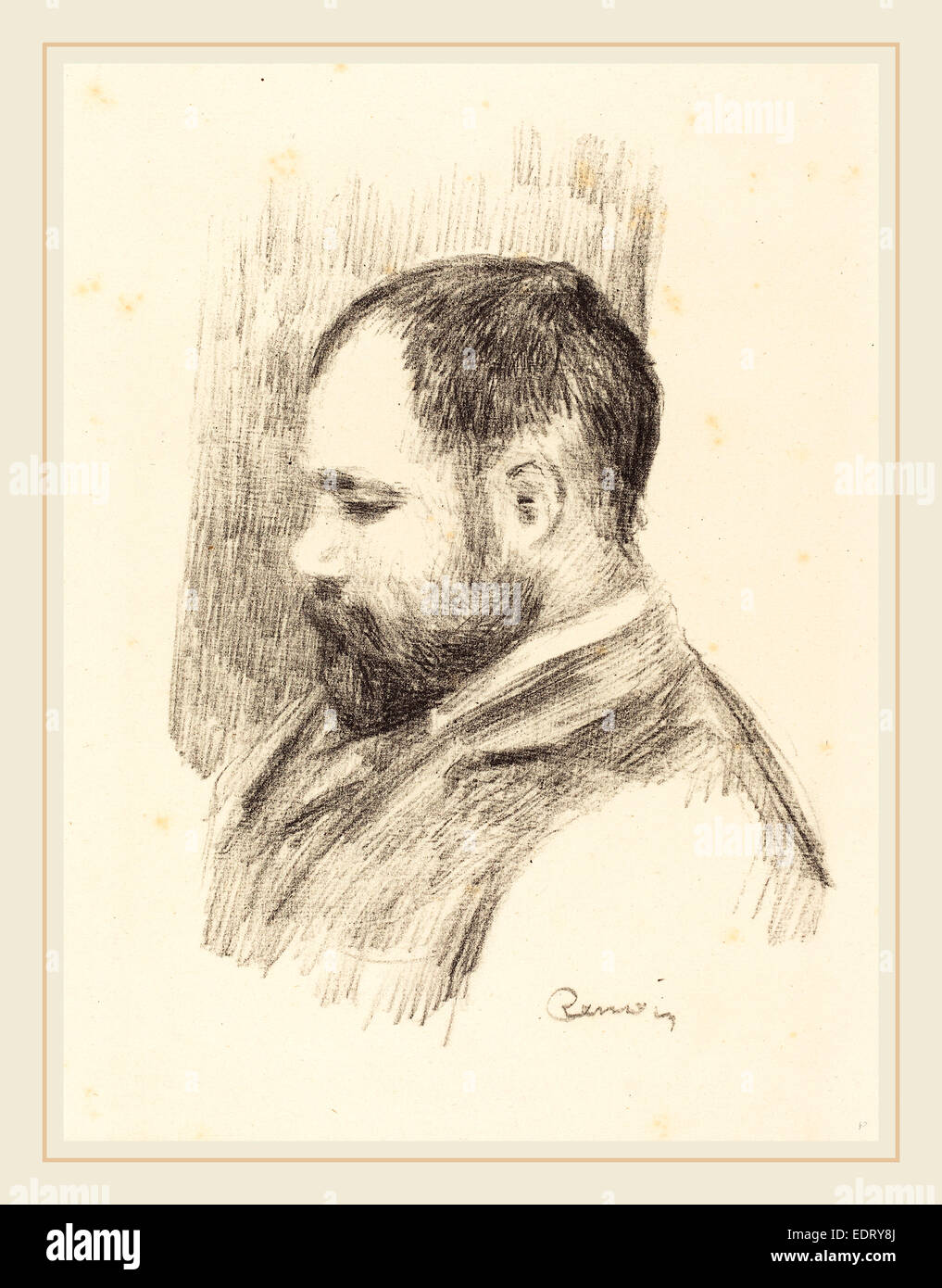 Auguste Renoir, Ambroise Vollard, French, 1841-1919, 1904, lithograph - Stock Image