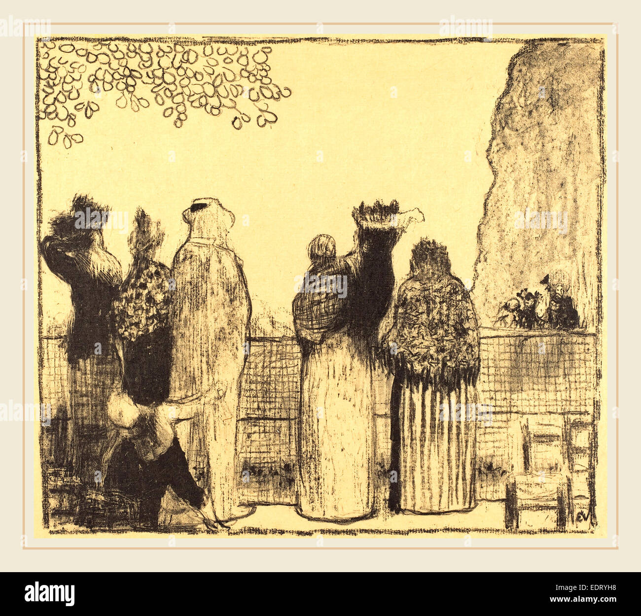 Edouard Vuillard (French, 1868-1940), The Tuileries (Les Tuileries), published 1895, lithograph - Stock Image