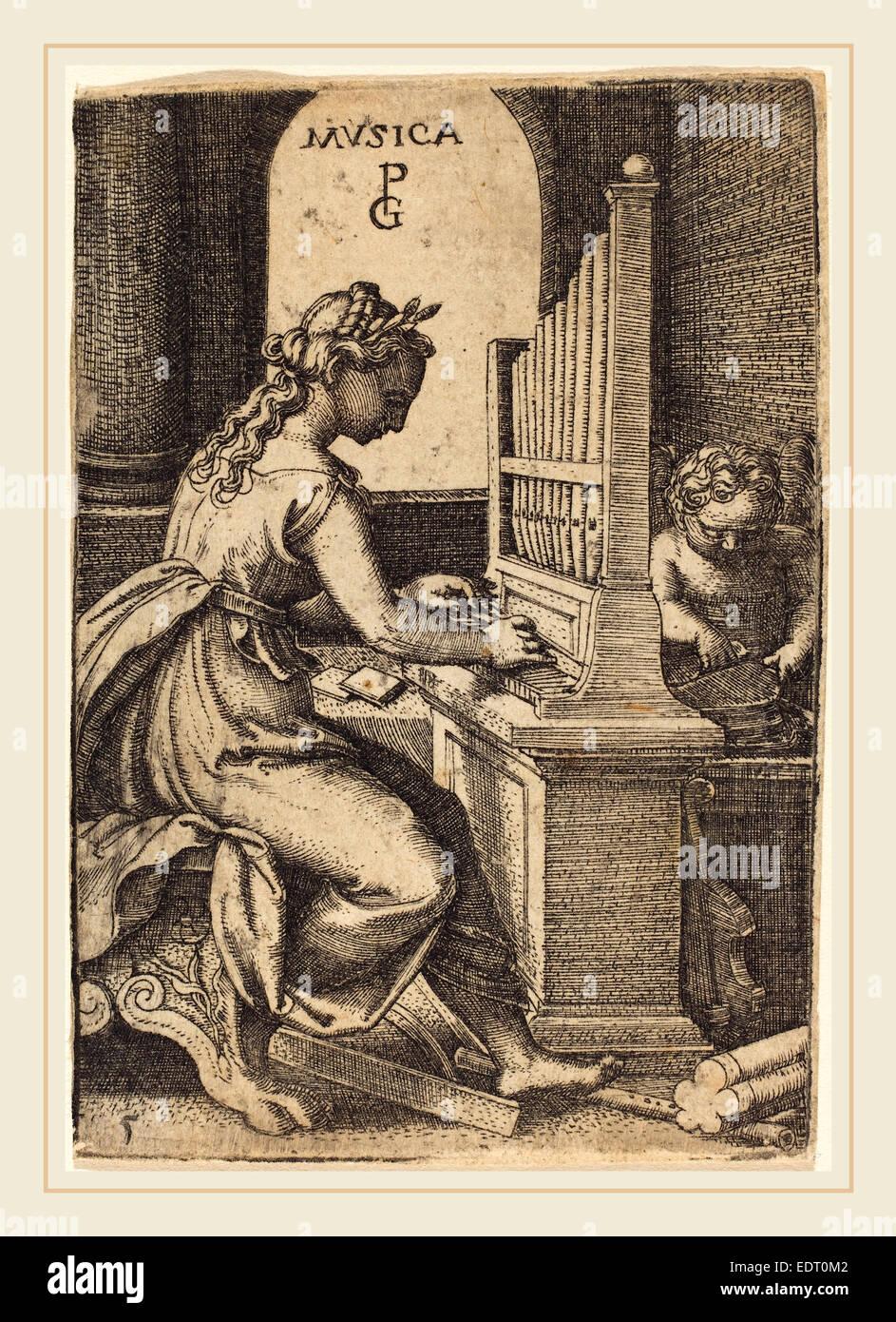 Georg Pencz (German, c. 1500-1550), Music, engraving - Stock Image