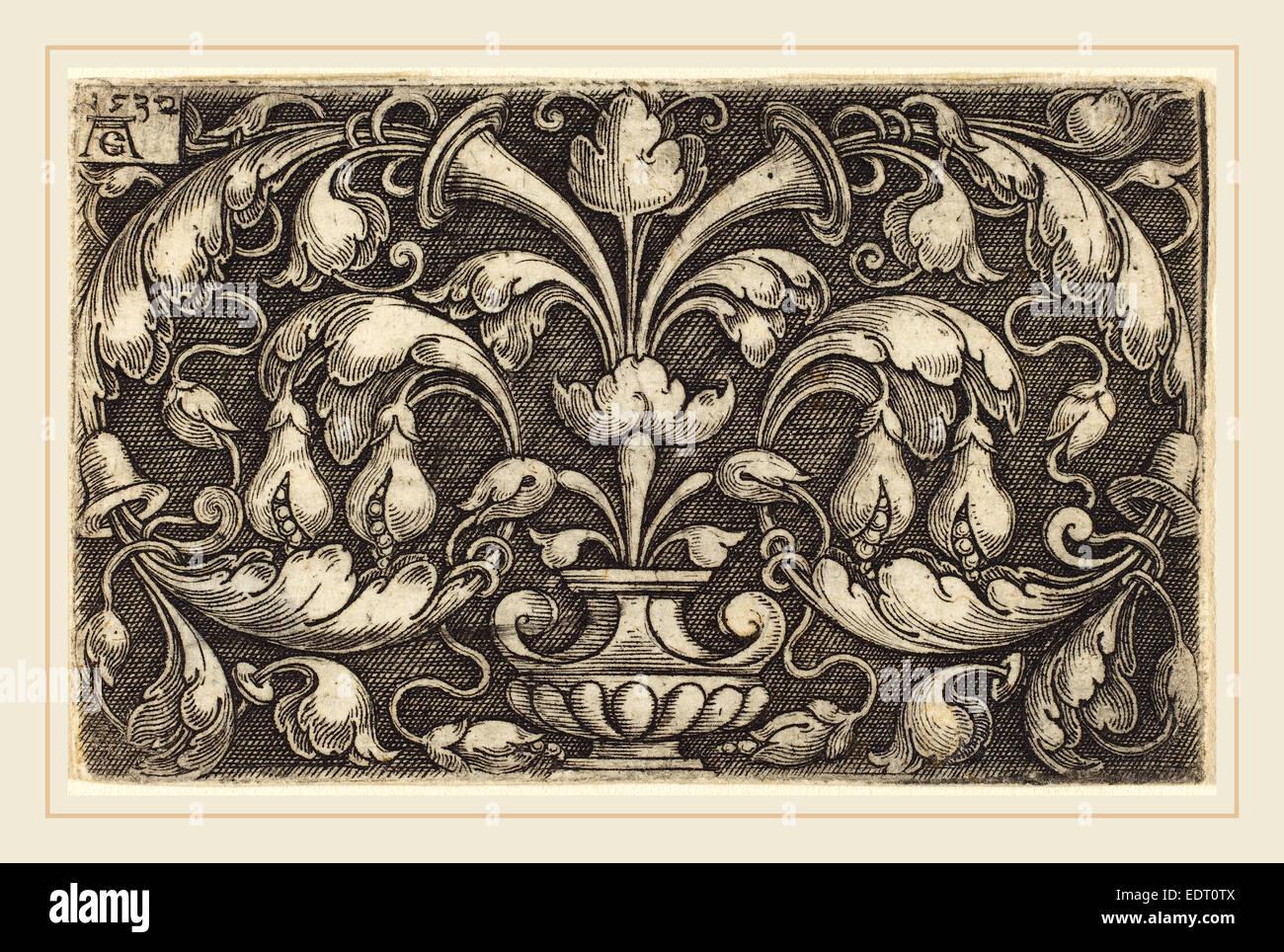 Heinrich Aldegrever (German, 1502-1555-1561), Ornament, 1532, - Stock Image