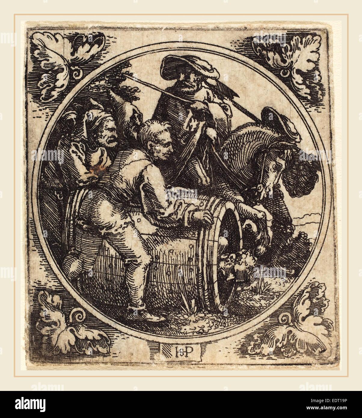 Sebald Beham (German, 1500-1550), Regulus, etching - Stock Image
