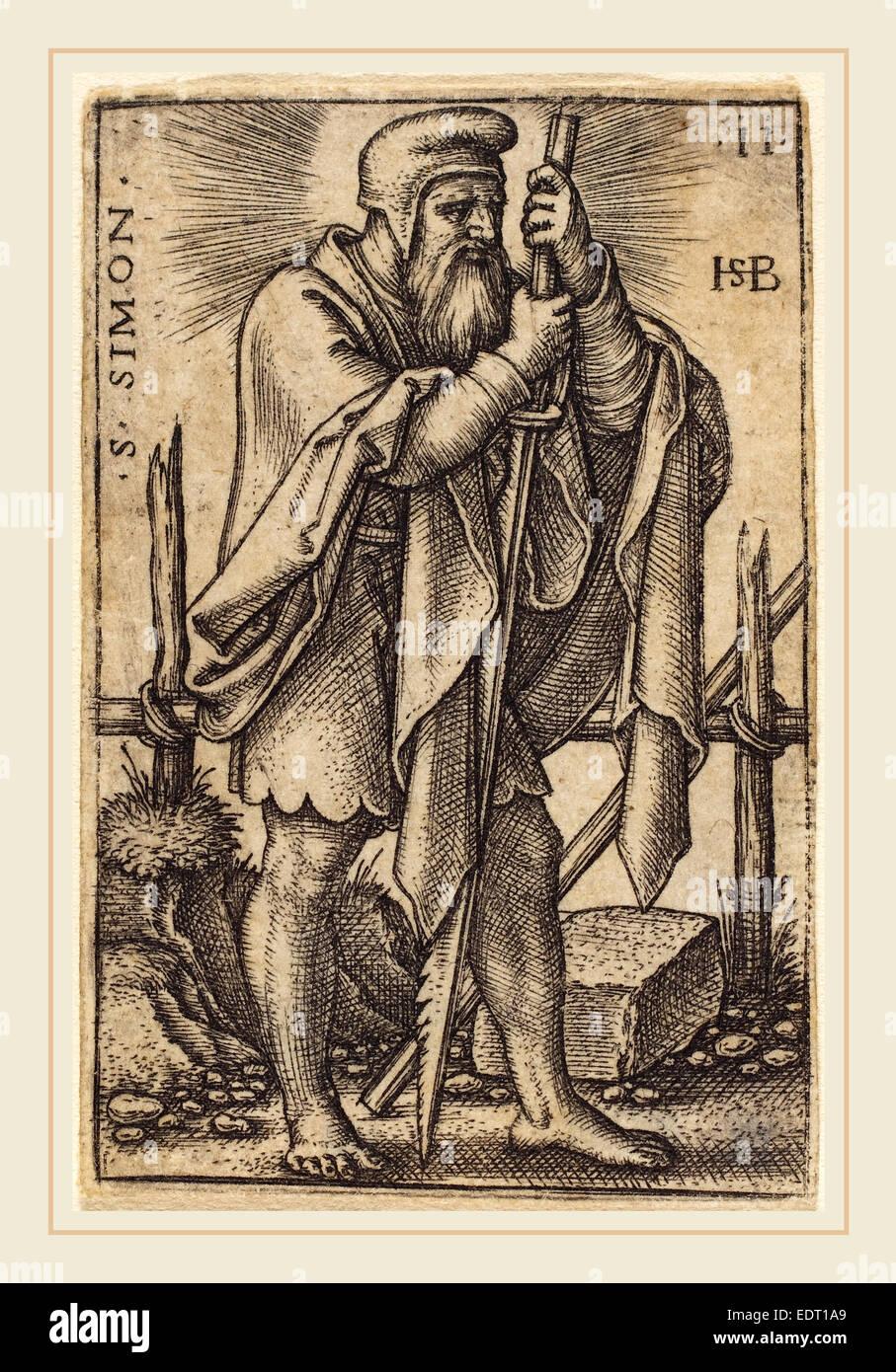 Sebald Beham (German, 1500-1550), Simon, engraving - Stock Image