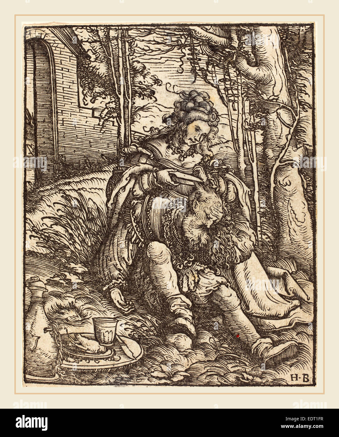 Hans Burgkmair I (German, 1473-1531), Samson and Delilah, woodcut