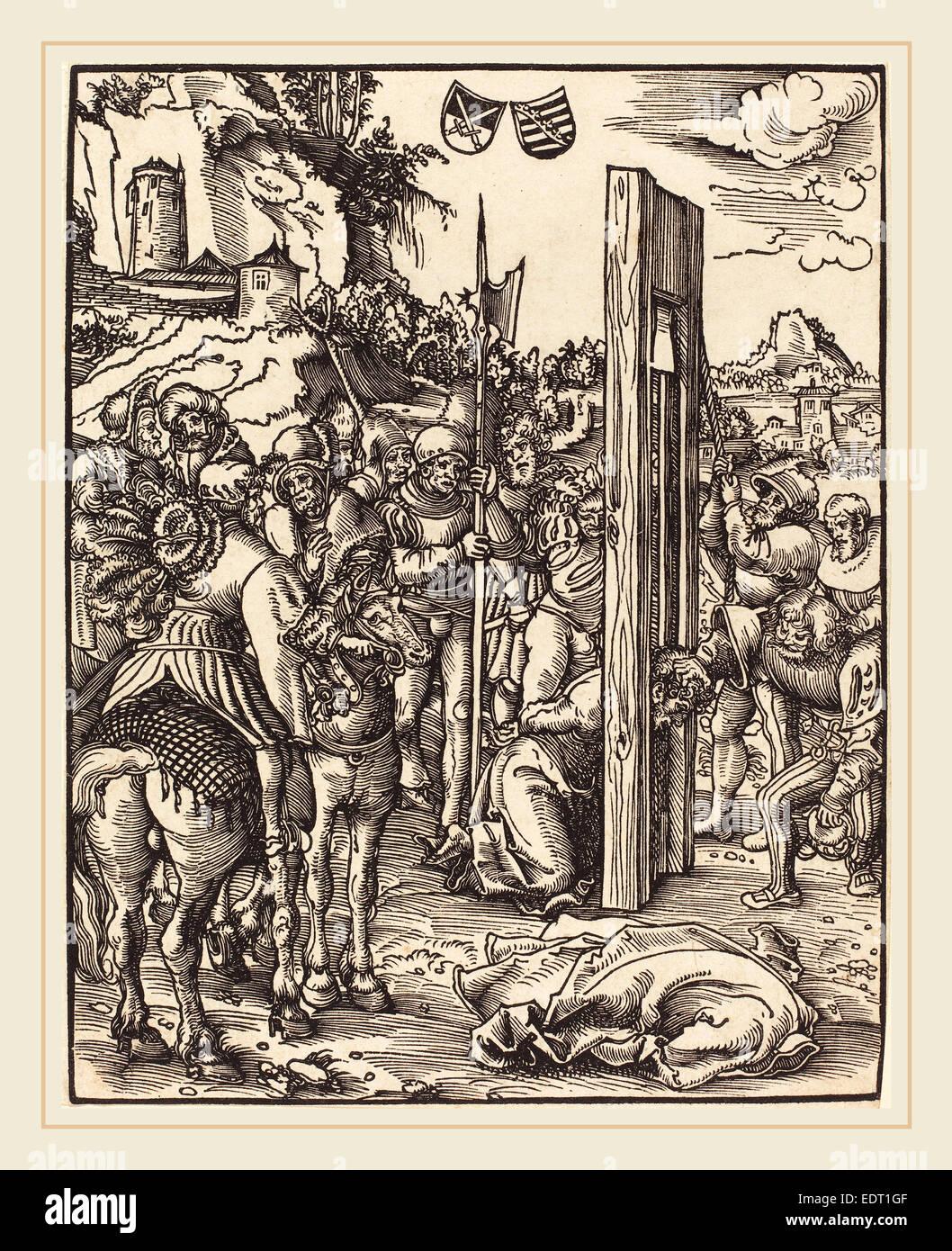 Lucas Cranach the Elder (German, 1472-1553), Saint Matthias, woodcut