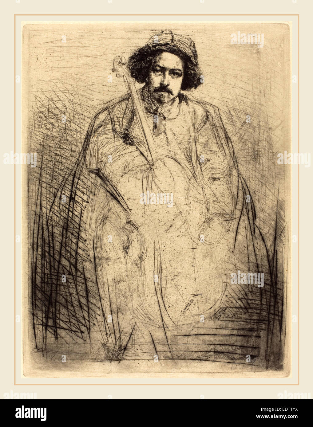 James McNeill Whistler (American, 1834-1903), Becquet, 1859, etching - Stock Image