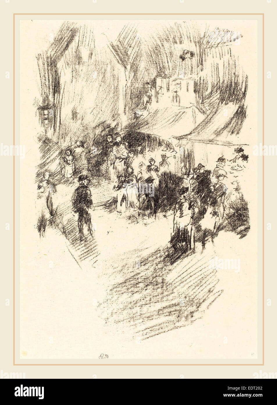 James McNeill Whistler (American, 1834-1903), The Fair, 1895, lithograph - Stock Image