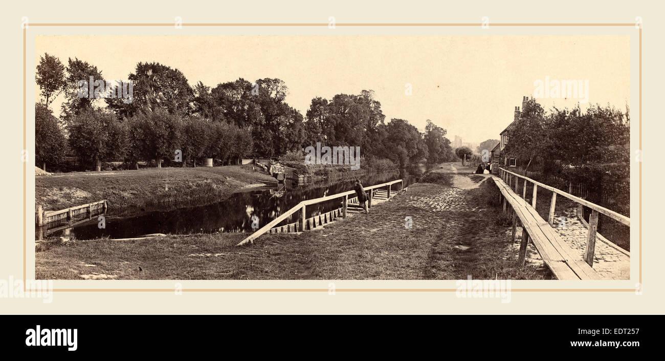 Victor Albert Prout (British, active 1850s-1860s), Windsor Lock, 1862, albumen print - Stock Image