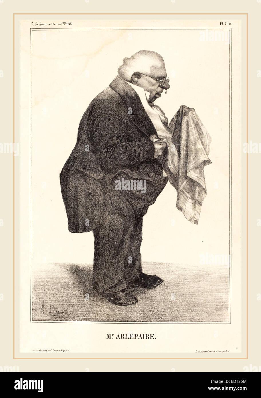 Honoré Daumier (French, 1808-1879), Harlé père, 1833, lithograph - Stock Image