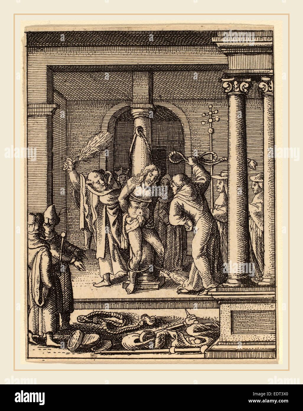 Wenceslaus Hollar (Bohemian, 1607-1677), The Scourging, etching - Stock Image